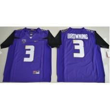 2016 NCAA Washington Huskies 3 Jake Browning Purple College Football Limited Jersey