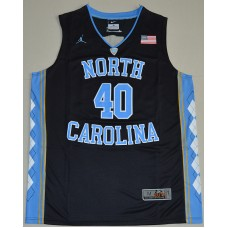 2016 North Carolina Tar Heels Harrison Barnes 40 College Basketball Jersey - Black