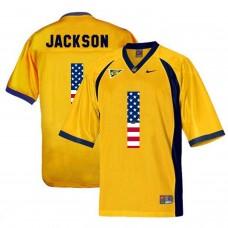 2016 US Flag Fashion Men California Golden Bears DeSean Jackson 1 College Football Jersey  Golden