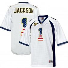 2016 US Flag Fashion Men California Golden Bears DeSean Jackson 1 College Football Jersey  White