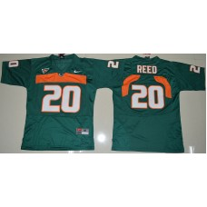 2016 Youth NCAA Miami Hurricanes 20 Ed Reed Green College Football Jersey