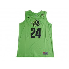 2017 Oregon Ducks Dillon Brooks 24 College Basketball Jersey - Electric Green
