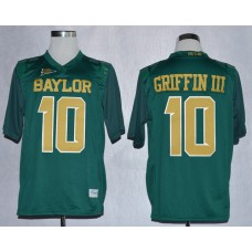 NCAA Baylor Bears 10 Lache Rebort Griffin III Green College Football Jerseys