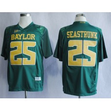 NCAA Baylor Bears 25 Lache Seastrunk Green College Football Jerseys