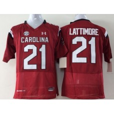Youth 2016 NCAA South Carolina Gamecock 21 Lattimore Red Jerseys