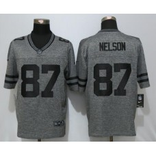 2016 Green Bay Packers 87 Nelson Gray Men's Stitched Gridiron Gray New Nike Limited Jersey