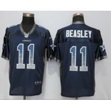 2016 NEW Nike Dallas cowboys 11 Beasley Drift Fashion Blue Elite Jerseys