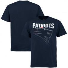 2016 NFL New England Patriots Majestic Empty Backfield T-Shirt - Navy
