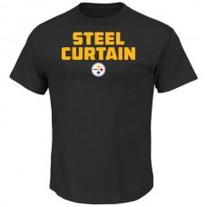2016 NFL Pittsburgh Steelers Majestic Hot Phrase T-Shirt - Black