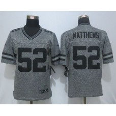 2016 New Nike Green Bay Packers 52 Matthews Gray Men's Stitched Gridiron Gray Limited Jersey