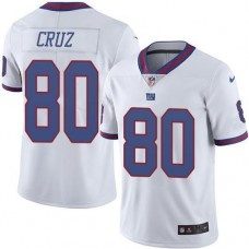 2016 Nike New York Giants 80 Victor Cruz White NFL Limited Rush Jersey