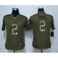 2016 Women New Nike Atlanta Falcons 2 Ryan Green Salute To Service Limited Jersey