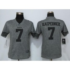 2016 Women Nike San Francisco 49ers 7 Kaepernick Gray Stitched Gridiron Gray Limited Jersey