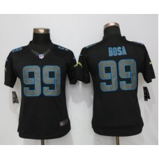 2016 Womens Los Angeles Chargers 99 Bosa Impact Limited New Nike Black Jerseys