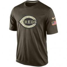 2016 Mens Cincinnati Reds Salute To Service Nike Dri-FIT T-Shirt