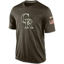 2016 Mens Colorado Rockies Salute To Service Nike Dri-FIT T-Shirt