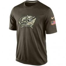 2016 Mens Columbus Blue Jackets Salute To Service Nike Dri-FIT T-Shirt