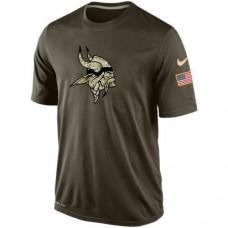 2016 Mens Minnesota Vikings Salute To Service Nike Dri-FIT T-Shirt