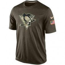 2016 Mens Pittsburgh Penguins Salute To Service Nike Dri-FIT T-Shirt