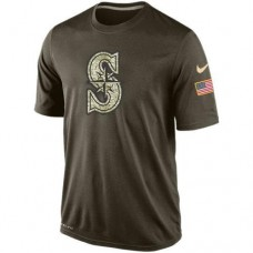 2016 Mens Seattle Mariners Salute To Service Nike Dri-FIT T-Shirt