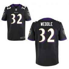 2017 Men Baltimore Ravens 32 Eric Weddle Black Alternate NFL Nike Elite Jersey
