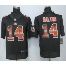 Cincinnati Bengals 14 Dalton Black Strobe 2015 New Nike Limited Jersey