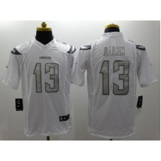 Los Angeles Chargers 13 Allen Platinum White Nike Limited Jerseys.