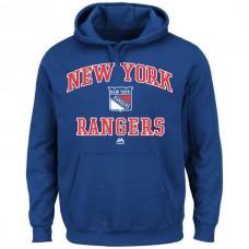 2016 NHL New York Rangers Majestic Heart & Soul Hoodie - Royal Blue