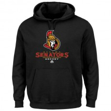 2016 NHL Ottawa Senators Majestic Critical Victory VIII Fleece Hoodie - Black