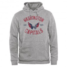 2016 NHL Washington Capitals Heritage Pullover Hoodie - Ash
