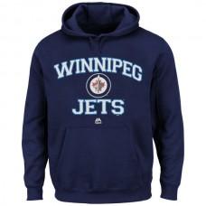2016 NHL Winnipeg Jets Majestic Heart Soul Hoodie - Navy Blue