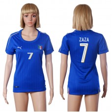 2016 European Cup Italy home 7 ZAZA Blue Women soccer jerseys