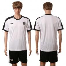 European Cup 2016 Austria away blank white soccer jerseys