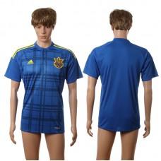 European Cup 2016 Ukraine away blank blue AAA+ soccer jerseys