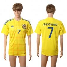 European Cup 2016 Ukraine home AAA+ 7 Shevchenko yellow soccer jerseys