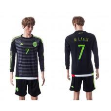 2015 Mexico Copa America 7 M.LAYUN Long Sleeve Home Jersey