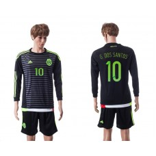 2015 Mexico Copa America 10 G.DOS SANTOS Long Sleeve Home Jersey